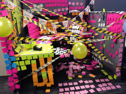 birthday cubicle decorations work month themes pinterest