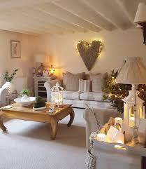 cozy home interior design beige neutral home decor decorating lights heart wall art
