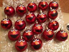 elmo ornament his was cutout of vinyl using a cricut and the