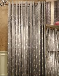 blackout curtain with geometric patterned silver gray blackout curtain