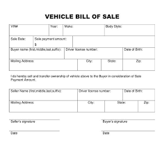 bill of sale template car used car bill of sale template template design