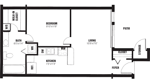 Example Of A Floor Plan Floor Plans The Willows Apartments Louisville Ky
