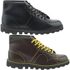 s monkey boots uk mens boys black wine leather grafters origional monkey