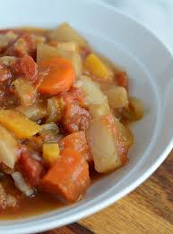Chinese Root Vegetables - hearty slow cooker root vegetable stew vegan low fat