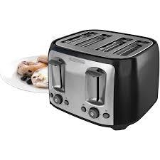 4 Slice Toasters On Sale Black Decker 4 Slice Multi Function Toaster Bagel Toaster Black