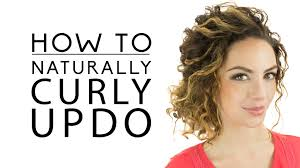 naturally curly updo youtube