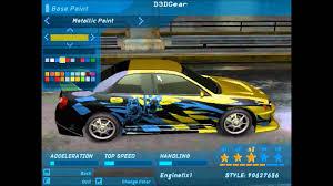 subaru custom cars need for speed underground 1 car customization subaru and nissan