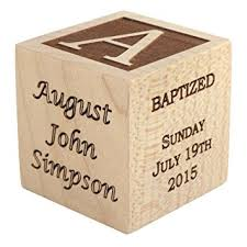 wooden personalized gifts personalized baby baptism gifts baptism wood block