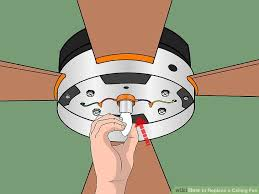 How To Change A Ceiling Light How To Replace A Ceiling Fan With Pictures Wikihow