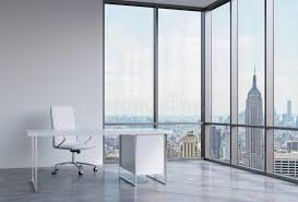 Free Office Furniture Nyc by A Workplace In A Modern Corner Panoramic Office In New York