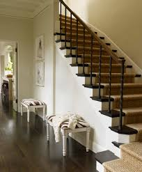 interior classy home interior staircase decoration using black