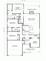 House Plans With Open Floor Plan by Hemistone Narrow Lot Ranch Home Plan 055d 0225 House Plans And