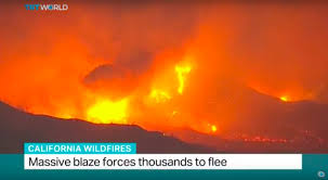 California Wildfires Ventura County by California Wildfires Massive Blaze Forces Thousands To Flee