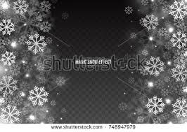 vector magic falling snow effect white stock vector 746525422