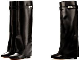 s knee boots on sale givenchy shark lock wedge knee boots spentmydollars