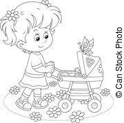 eps vectors baby bath coloring vector