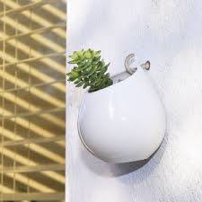 Hanging Ceramic Planter by Aged Ceramic Wall Planter