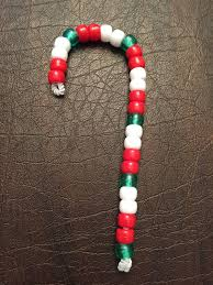 courtesy of christine easy kids holiday craft beaded candy canes