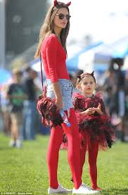 Mother Daughter Costumes Halloween Angel Alessandra Ambrosio Dresses Devil