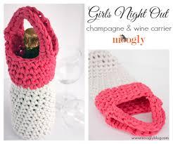 pattern for wine bottle holder free crochet pattern girls night out chagne wine carrier