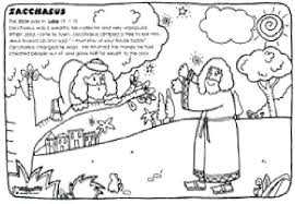 Zacchaeus Coloring Page Preschool Vonsurroquen Me Zacchaeus Coloring Page