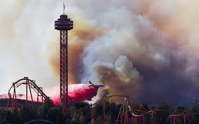 Six Flags Near Me Md 87 Tanker Dropping Retardant On The Rye Fire Over Six Flags