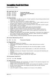 Sample Job Cover Letter For Resume by Resume Of Purchaser