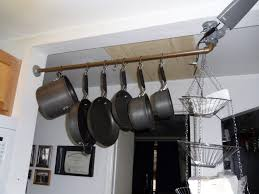 Hanging Pot Rack In Cabinet by Kitchen Accessories Wooden Wall Cabinets Kitchen Renovation