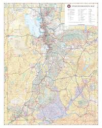 Map Of Nevada And Utah by Utah Recreation Map U2014 Benchmark Maps