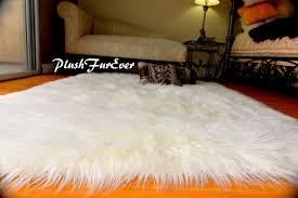tappeti di pelliccia pelliccia ecologica tappeto bianco pelliccia mongolia