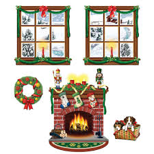 halloween scene setters windows and fireplace scene setters set of 5 walmart com
