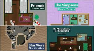 the simpsons house floor plan famous fictional restaurant floor plans from tv and movies