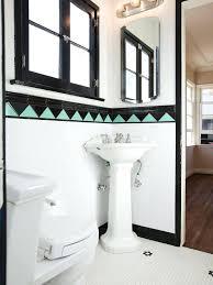 Affordable Vanity Lighting During Renovation Completely Redid Guest Bathroom Art Deco Sinks