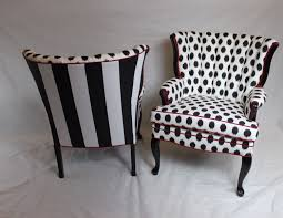 Ikat Armchair Sold Pair Of Black And White Ikat Black And White Large Stripe