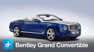 bentley mulsanne convertible bentley grand convertible concept first look youtube