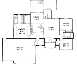traditional style house plan 3 beds 2 baths 1336 sq ft plan 58
