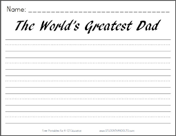 printable lined paper grade 2 the world s greatest dad free printable writing prompt worksheet