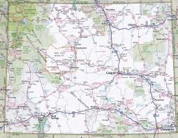 Map Of Washington State Cities by Wyoming Road Map