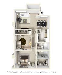 Two Bedroom Apartments Floor Plans Spacious 1 And 2 Bedroom Apartment Floor Plans Brookside Apartments