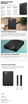 format wd elements external hard drive for mac wd elements 4tb usb 3 0 portable external hard drive wdbu6y0040bbk