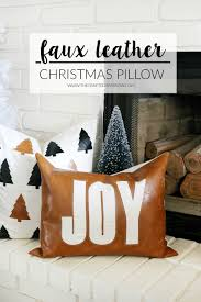 bake craft sew decorate faux leather christmas pillow christmas