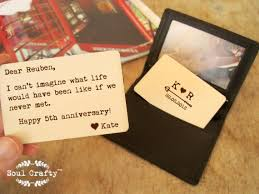 5th anniversary gifts for him personlized wallet insert card rustic wooden wallet card gift