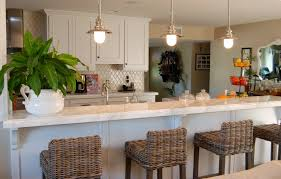 Kitchen Decoration Ideas Furniture Wicker Pottery Barn Stools With Marble Countertop And