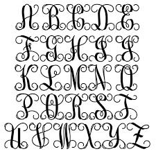 monogram initials classic vine monogram sign