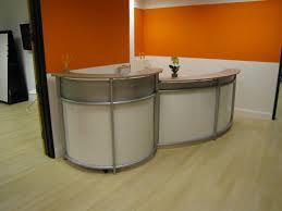 Maple Reception Desk by Double Curve Reception Desk Plastic Aluminum Steel Eric Z