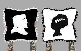 halloween pillow halloween pillow halloween decor frankenstein pillow bride