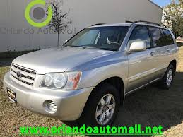 lexus suv for sale orlando fl 1379 2001 toyota highlander orlando auto mall used cars for