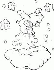 mid morning nap care bears coloring pages coloring