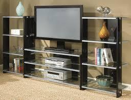 black glass open entertainment center design decofurnish