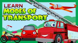 modes of transport for children kids learning kids hut youtube